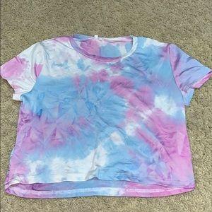 Tops - tie-dye crop top